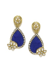 Anouk Gold-Toned & Royal Blue Drop Earrings