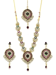 Anouk Gold-Toned Crystal Jewellery Set