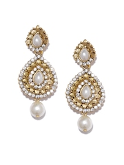 Anouk Gold-Toned Studded Drop Earrings