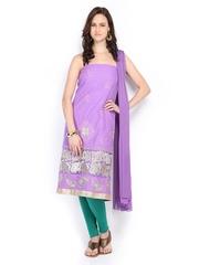 Anouk Lavender Cotton Unstitched Dress Material