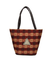 Anouk Maroon & Brown Shoulder Bag