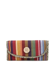 Anouk Multicoloured Jute Clutch