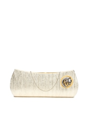 Anouk Muted Gold-Toned Clutch