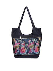 Anouk Navy Jute Handbag