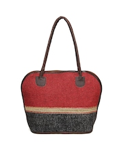 Anouk Red & Charcoal Grey Handbag