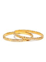 Anouk Set of 2 Gold-Toned Studded Bangles