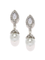 Anouk Silver-Toned Drop Earrings