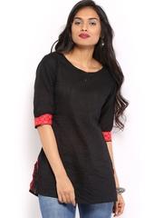 Anouk Women Black Kurti