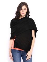 Anouk Women Black Woollen Shawl