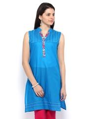 Anouk Women Blue Kurta