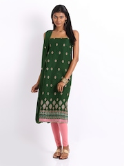Anouk Green Poly Cotton Unstitched Dress Material