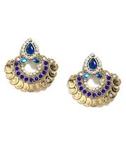 Anouk Gold Toned & Blue Drop Earrings