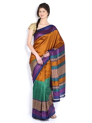 Anouk Green Art Silk Printed Fashion Saree