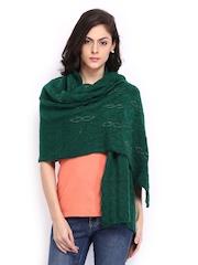 Anouk Women Green Woollen Shawl