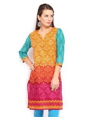 Anouk Women Multicoloured Printed Kurta