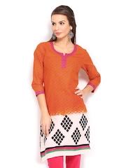 Anouk Women Orange Printed Kurta