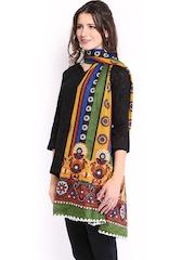 Anouk Women Multicoloured Printed Dupatta