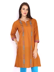 Anouk Women Orange Kurta