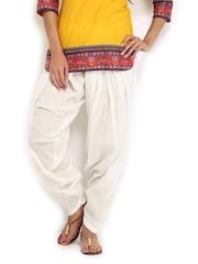 Anouk Women Off-White Patiala