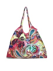 Anouk Women Pink Printed Tote Bag