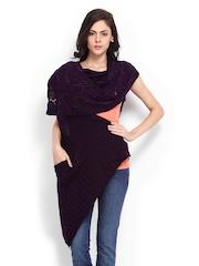 Anouk Women Purple Woollen Shawl
