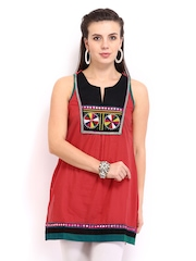 Anouk Women Red Embroidered Kurti