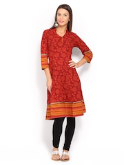 Anouk Women Red Printed Anarkali Kurta