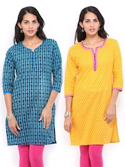 Women Selection Of 2 Printed Kurtas Anouk