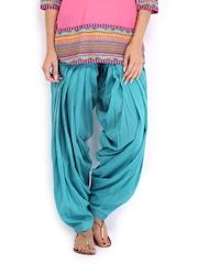 Anouk Women Turquoise Blue Patiala