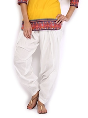 Anouk Women White Patiala