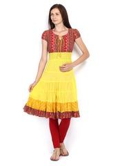 Anouk Women Yellow Printed Kurta
