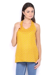 Anouk Women Yellow Printed Kurti