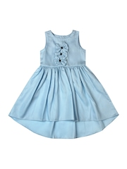 Aomi Girls Blue Hi-Low Dress