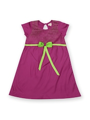 Aomi Girls Magenta A-Line Dress
