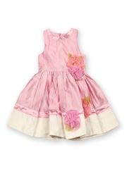 Aomi Girls Pink Fit & Flare Dress