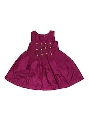 Aomi Girls Magenta Dress