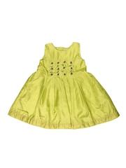 Aomi Girls Lime Green Dress