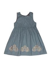 Aomi Girls Grey Fit & Flare Dress