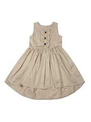 Aomi Girls Khaki Hi-Low Dress