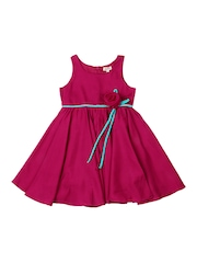 Aomi Girls Pink Fit & Flare Dress