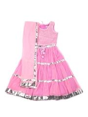 Aomi Girls Pink Supernet Clothing Set