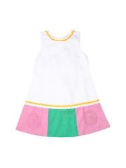 Aomi Girls White A-line Dress