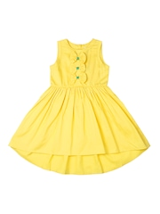 Aomi Girls Yellow Hi-Low Dress