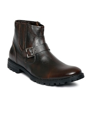 Apaache Men Brown Leather Boots