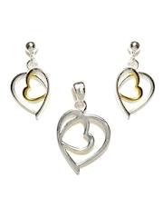 Arezzo Sterling Silver Earrings & Pendant Set