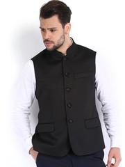 Arrow Men Black Body Tailored Fit Waistcoat