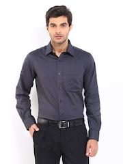 Men Charcoal Grey Formal Shirt Arrow