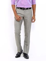 Arrow Men Grey Slim Fit Formal Trousers