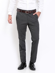 Arrow Men Grey Tapered Fit Formal Trousers