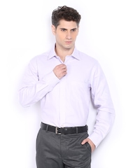 Arrow Men Lavender Coloured Striped Premium Formal Fit Formal Shirt